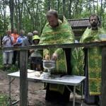 Водосвятный молебен на источнике в Боровиках